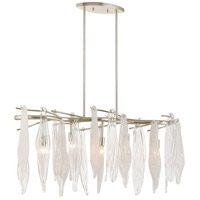 Winterlude 5 Light 40 inch Silver Leaf Island Light Ceiling Light