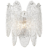 Frozen Cascade 2 Light 12 inch Polished Chrome Sconce Wall Light