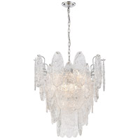 Frozen Cascade 9 Light 26 inch Polished Chrome Chandelier Ceiling Light