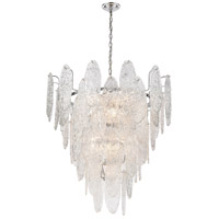 Frozen Cascade 13 Light 34 inch Polished Chrome Chandelier Ceiling Light