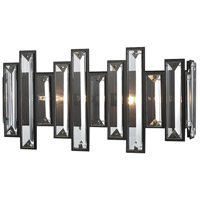 ELK 33000/2 Crystal Heights 2 Light 16 inch Oil Rubbed Bronze Vanity Light Wall Light