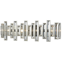 Crystal Heights 4 Light 25 inch Polished Chrome Vanity Wall Light
