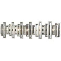 Crystal Heights 5 Light 30 inch Polished Chrome Vanity Wall Light