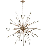 Sprigny 10 Light 38 inch Matte Gold Chandelier Ceiling Light