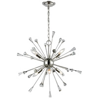ELK 33030/6 Sprigny 6 Light 25 inch Polished Nickel Chandelier Ceiling Light