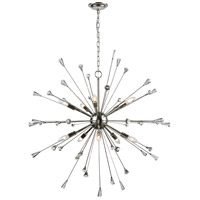 Sprigny 10 Light 38 inch Polished Nickel Chandelier Ceiling Light