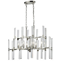 Crystal Heights 6 Light 30 inch Polished Nickel Chandelier Ceiling Light