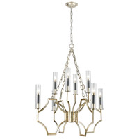 ELK 33045/8 Sylvanna 8 Light 31 inch Antique Silver Leaf with Dark Graphite Chandelier Ceiling Light