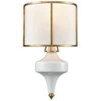 Ceramique 1 Light 8 inch Antique Gold Leaf Wall Sconce Wall Light