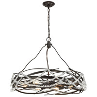 Nestled 8 Light 30 inch Oil Rubbed Bronze Pendant Ceiling Light
