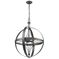 Farwell 4 Light 24 inch Dark Graphite Pendant Ceiling Light