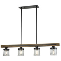 ELK 33071/4 Timberwood 4 Light 50 inch Oil Rubbed Bronze Billiard Island Ceiling Light