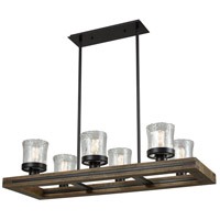 Timberwood 6 Light 41 inch Oil Rubbed Bronze Billiard Island Ceiling Light