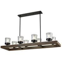 ELK 33073/8 Timberwood 8 Light 54 inch Oil Rubbed Bronze Billiard Island Ceiling Light