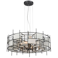 Spanish Alabaster 8 Light 32 inch Dark Graphite Pendant Ceiling Light