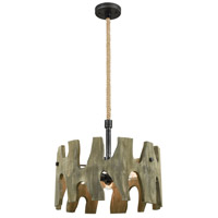 Driftwood Cove 3 Light 20 inch Silvered Graphite Pendant Ceiling Light