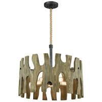 ELK 33155/5 Driftwood Cove 5 Light 29 inch Silvered Graphite Pendant Ceiling Light