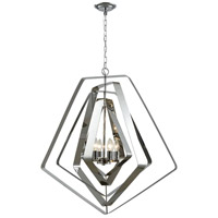 ELK 33173/6 Anguluxe 6 Light 32 inch Polished Chrome Pendant Ceiling Light