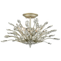 ELK 33181/3 Mullica 3 Light 19 inch Aged Silver Semi Flushmount Ceiling Light