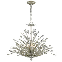ELK 33184/6 Mullica 6 Light 28 inch Aged Silver Chandelier Ceiling Light