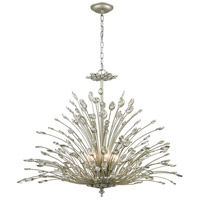 ELK 33185/8 Mullica 8 Light 36 inch Aged Silver Chandelier Ceiling Light