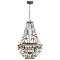Summerton 4 Light 18 inch Washed Gray and Malted Rust Pendant Ceiling Light