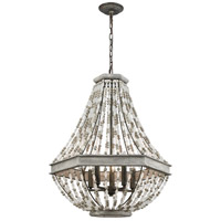 ELK 33194/5 Summerton 5 Light 24 inch Washed Gray with Malted Rust Pendant Ceiling Light