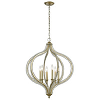 ELK 33204/6 Bennington 6 Light 24 inch Aged Silver Chandelier Ceiling Light