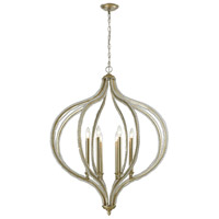 ELK 33205/8 Bennington 8 Light 33 inch Aged Silver Pendant Ceiling Light
