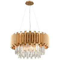 ELK 33215/6 Seneca Falls 6 Light 26 inch Matte Gold Chandelier Ceiling Light