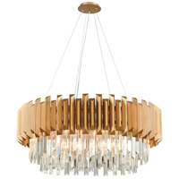 Seneca Falls 8 Light 34 inch Matte Gold Chandelier Ceiling Light