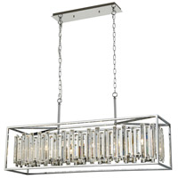 ELK 33244/6 Rivona 6 Light 42 inch Polished Chrome Billiard Light Ceiling Light