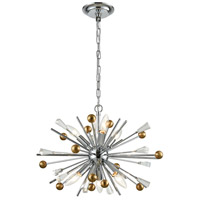 Williston 6 Light 21 inch Polished Chrome with Satin Brass Pendant Ceiling Light