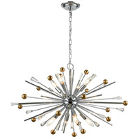 Williston 8 Light 32 inch Polished Chrome and Satin Brass Pendant Ceiling Light