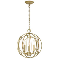 ELK 33415/3 Loughton 14 inch Golden Silver Chandelier Ceiling Light