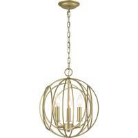 ELK 33415/3 Loughton 14 inch Golden Silver Chandelier Ceiling Light