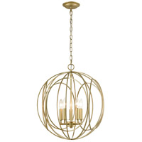 ELK 33416/5 Loughton 20 inch Golden Silver Chandelier Ceiling Light
