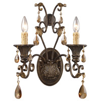 Rochelle 2 Light 12 inch Weathered Mahogany Ironwork Sconce Wall Light