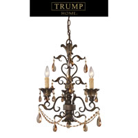Rochelle 3 Light 18 inch Weathered Mahogany Ironwork Chandelier Ceiling Light
