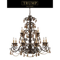 Rochelle 12 Light 42 inch Weathered Mahogany Ironwork Chandelier Ceiling Light