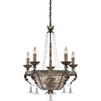 Trump Home Westchester CORTLANDT MANOR 8 Light 24 inch Distressed Pewter Chandelier Ceiling Light