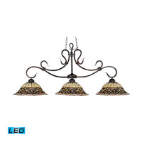 ELK Lighting Tiffany Buckingham 3 Light Billiard/Island in Vintage Antique 348-VA-LED