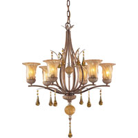 ELK Lighting Provenzia 6 Light Chandelier in Argento Bronze 3577/6