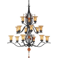 PROVENZIA 15 Light 42 inch Dark Rust Chandelier Ceiling Light