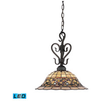 ELK 362-VA-LED Tiffany Buckingham LED 16 inch Vintage Antique Pendant Ceiling Light