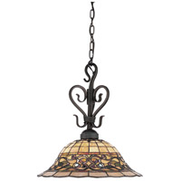 Tiffany Buckingham 1 Light 16 inch Vintage Antique Pendant Ceiling Light in Standard