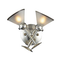 ELK Lighting Martini Glass 2 Light Sconce in Silver Leaf 3650/2 photo thumbnail