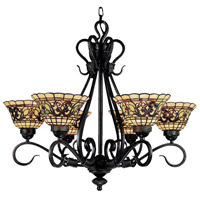 ELK 366-VA Tiffany Buckingham 6 Light 28 inch Vintage Antique Chandelier Ceiling Light