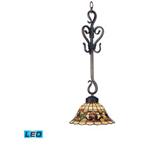 ELK 369-VA-LED Tiffany Buckingham LED 10 inch Vintage Antique Mini Pendant Ceiling Light