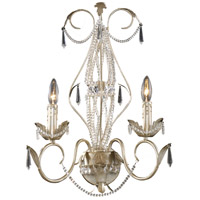 MADISON 2 Light 14 inch Silver Leaf Sconce Wall Light